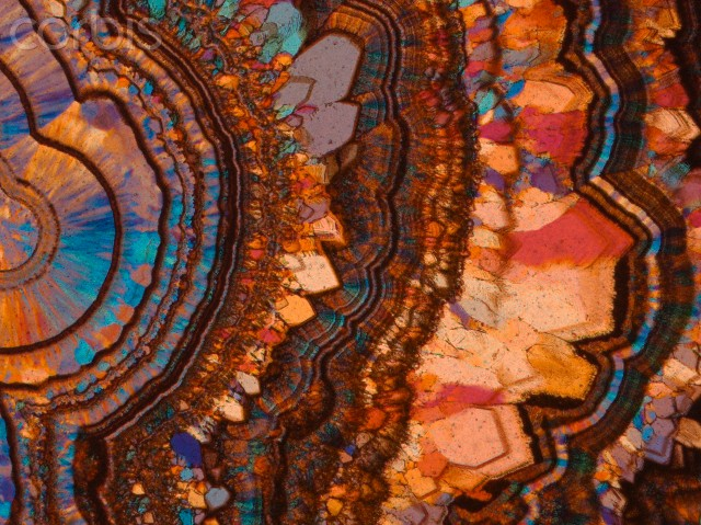 Agate in thin section